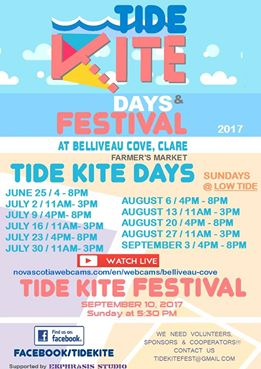 TideKite Days and Festival agenda 2017 Belliveau Cove